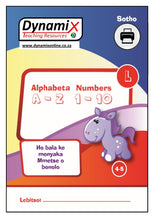 Load image into Gallery viewer, PDF 002 Sotho - Alphabet & Numbers Large Font. Ages 4-5