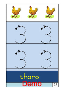 PDF 002 Sotho - Alphabet & Numbers Large Font. Ages 4-5