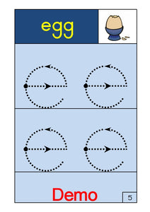 PDF 002 E - Alphabet and Numbers. Large Font. Ages 4-5