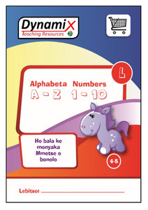 WB 002 Sotho - Alphabet and Numbers Large Font