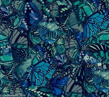 Load image into Gallery viewer, Capri Legging Low-Rise - Ocean's Blue Butterfly Print