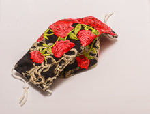 Load image into Gallery viewer, Pretty Designer Masks Envelope Style Embroidered Roses