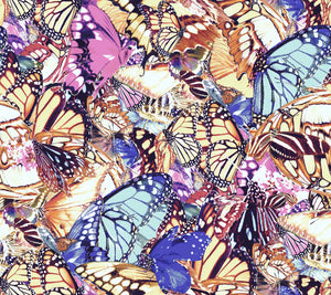 The LL Duster - Pastel Crepe de chine Butterfly Digital Print