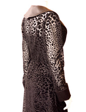 Load image into Gallery viewer, Burn-out Velvet Animal Print Maxi Length Duster