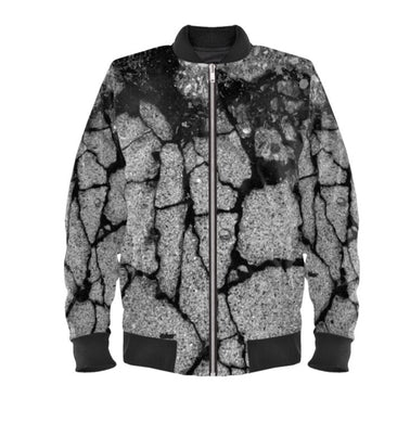 Men's bomber jacket in concrete digital print.
