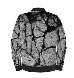 Women's Bomber Jacket Concrete Digital Print