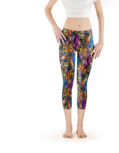Capri Legging Low-Rise - Original Butterfly Print