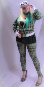 Leggings Green Glassblock Digital Print