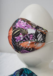 Masks Made from Original Digital Prints of Living Butterflies