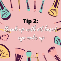 Break up with your oil containing make up