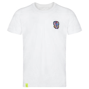T-shirt Blanc - Ecusson Rouge