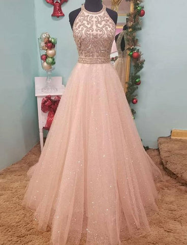 pink-heavy-beaded-prom-dress