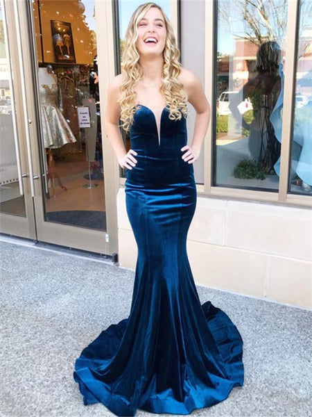 velvet-mermaid-prom-dress
