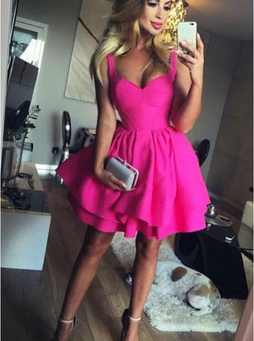 Hot-Pink-Homecoming-Dress