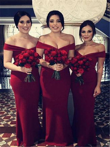 burgundy-bridesmaid-dresses-2019-new-arrival