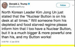 Pure evil Masters of war - Trump tweet