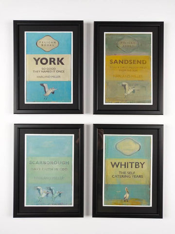 Harland Miller | York Art Gallery - Framed Exhibition Postcards - Choice of 4