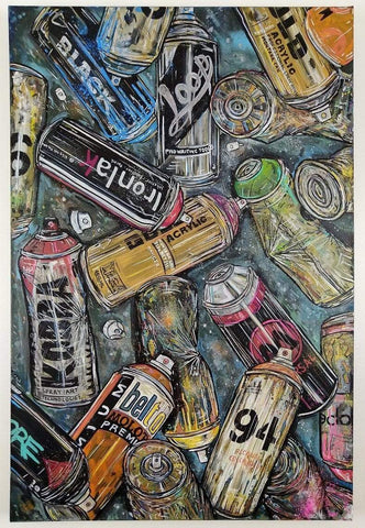 John Curtis | Cans | Original artwork on Canvas