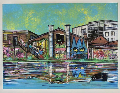 John Curtis | Fish Island - Hackney Wick | Original artwork on Canvas