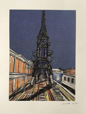 John Curtis | Bristol M Shed and Crane | Limited Edition Print