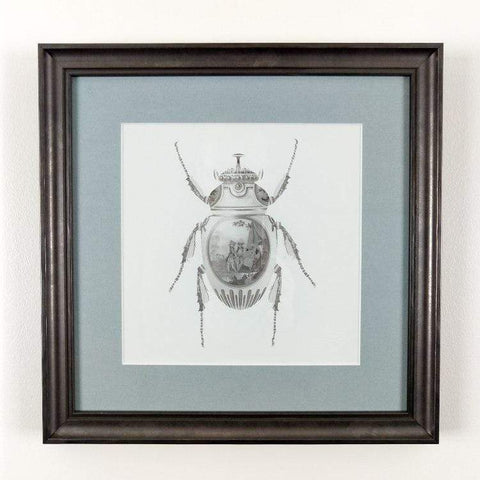 Magnus Gjoen | Scarab Beetle - Art Therapy Framed Print