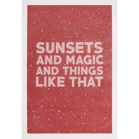 Maxwell Fine Studio | Sunsets And Magic - Print with Diamond Dust