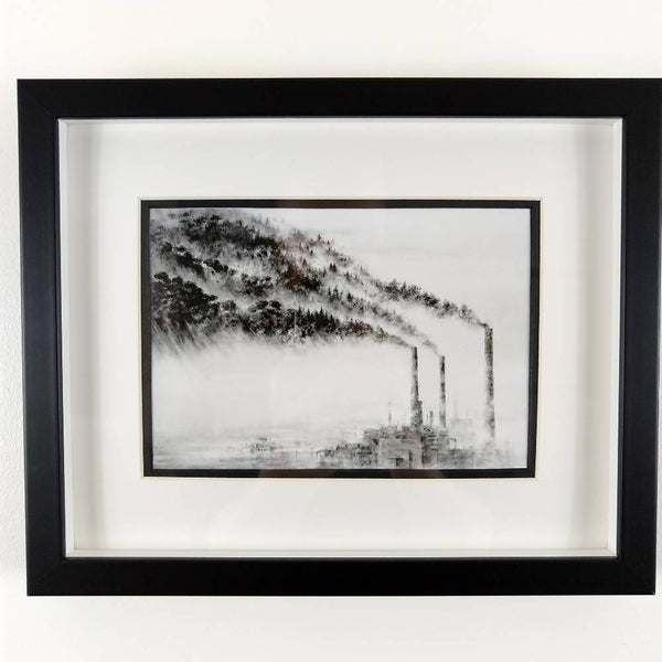 Pejac | A Forest (mini print) Framed