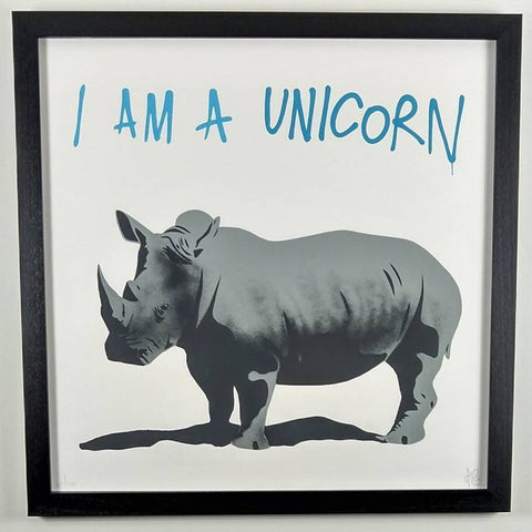 Pure Evil - Screen Print | I am a Unicorn - Framed