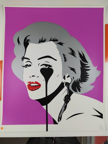 Pure Evil - Screen Print | Marilyn Glam - Pink Punk