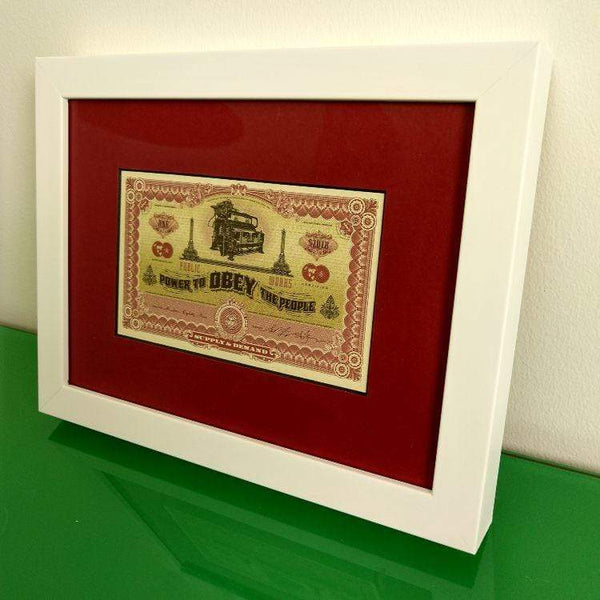 Shepherd Fairey 'Two Sides of Capitalism' Bank Notes | Framed, Choice of 2