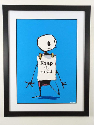 Banksy Keep It Real Replica by artist West Country Prince
