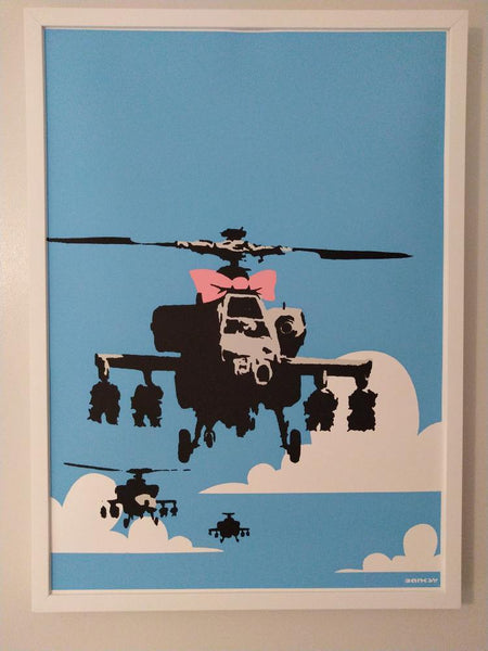 Banksy Happy Choppers Replica by Artist West Country Prince