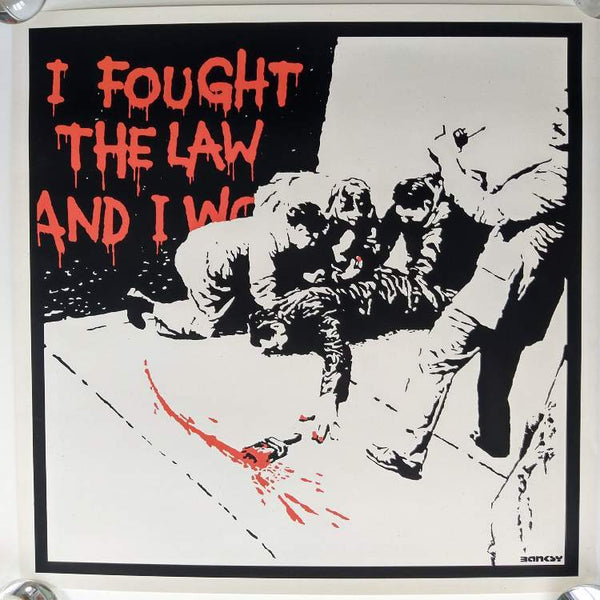 Banksy I Fought The Law Replica by artist West Country Prince.