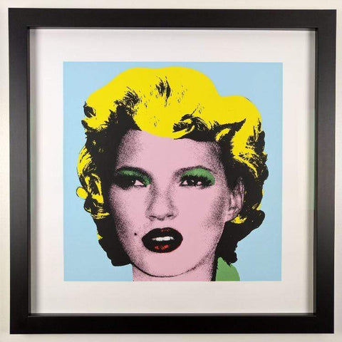 Banksy Kate Moss (Original Colour) Replica by Artist West Country Prince