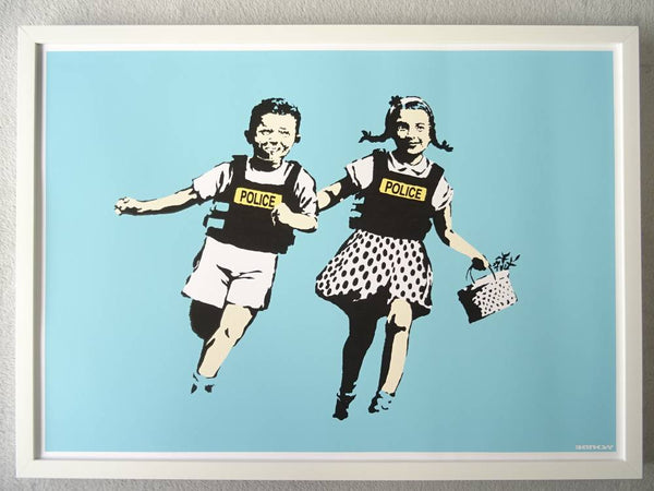 Banksy Jack and Jill (Police Kids) Replica by Artist West Country Prince