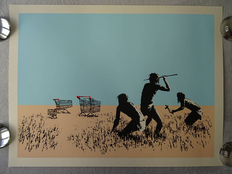 Banksy Trolley Hunters Replica by Artist West Country Prince