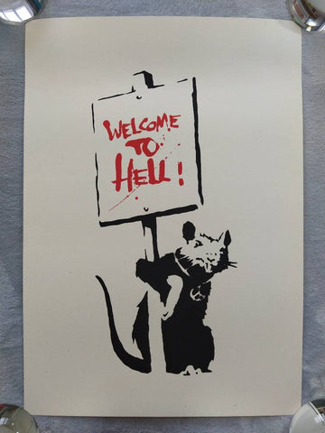 Banksy Welcome To Hell Replica by artist West Country Prince.