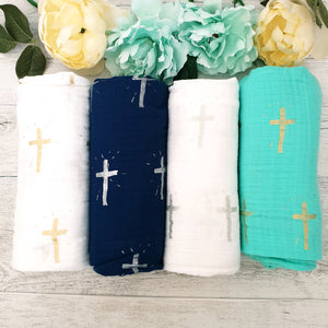 Swaddle 100% Cotton - Baptism / Christening