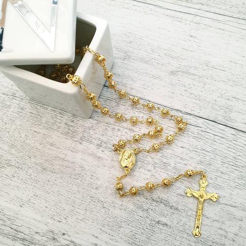 Rosary - Yellow Gold Bead