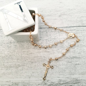 Rosary - Rose Gold Bead