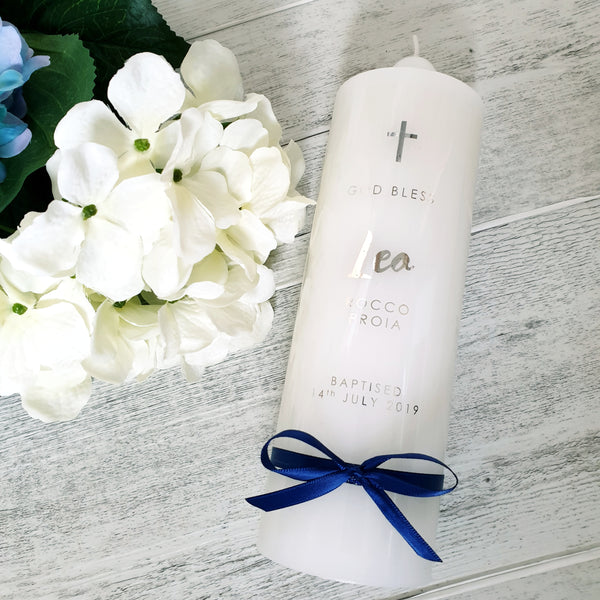 Christening Candle - Simplistic Style