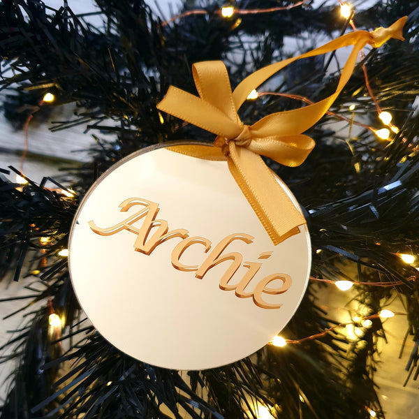 Christmas Bauble - Mirrored Gold Acrylic