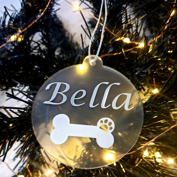 Christmas Bauble - Frosted Acrylic