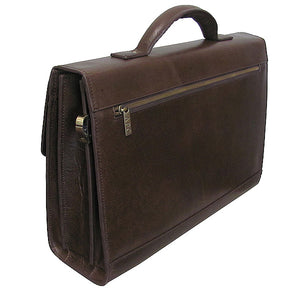 The Efficiency Leather Laptop Briefcase Back