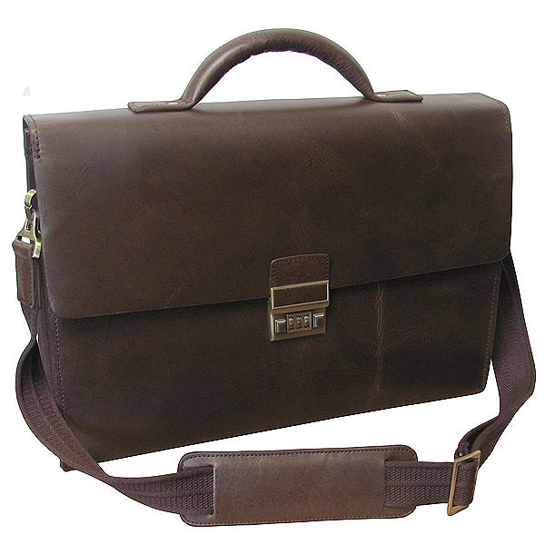 The Efficiency Leather Laptop Briefcase