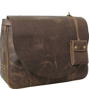 The Flapover Leather Messenger Bag For Men