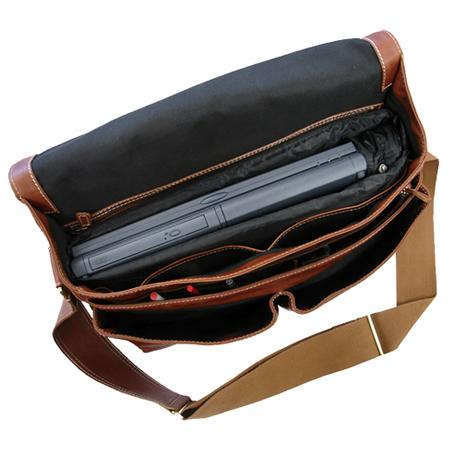 The Woody Leather Laptop Messenger Bag For Men