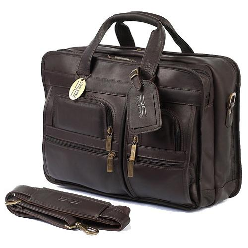 The Executive Leather Briefcase For 17 Inch Laptops For Men