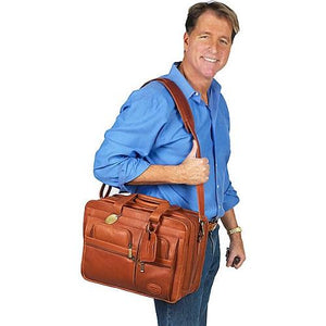 The Jumbo Leather Briefcase Extra Large For 17 Inch Laptops For Men