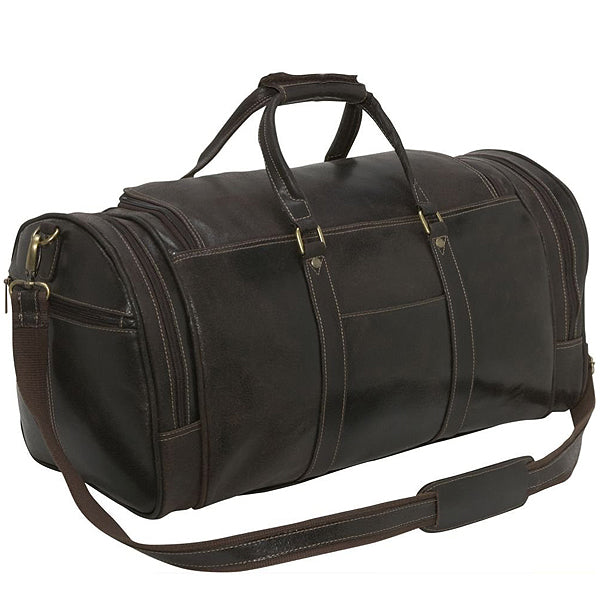 Distressed Leather Duffel Bag for Men Back